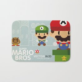 mario bros 2 fan art Bath Mat