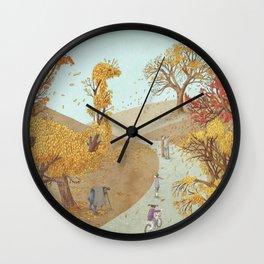 The Night Gardener - Autumn Park Wall Clock