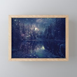 Winter Forest Deep Pastel Framed Mini Art Print