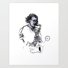 russ gershon of the either orchestra Art Print