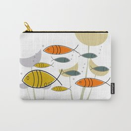 Mid Century Modern Fish, Marine Life Carry-All Pouch