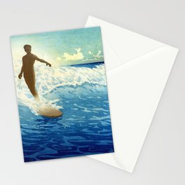 Hawaiian Surfer portrait painting by Charles W. Bartlett Stationery Cards