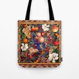 Vintage Fruit Pattern VII Tote Bag