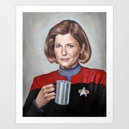 Captain Janeway - Portrait Painting Kunstdrucke