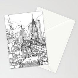 New York! B&W Stationery Cards