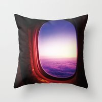 aperture Throw Pillows featuring aperture by Gray