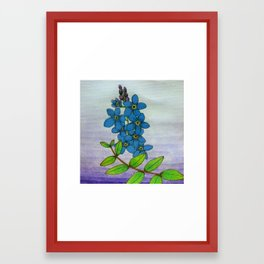 Forget-Me-Not Watercolor Framed Art Print