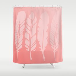 Rose Quartz Feathers in Ombre Shower Curtain