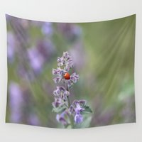 ladybug Wall Tapestries featuring Ladybug by Stecker Photographie