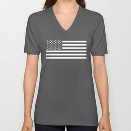 USA flag - HiDef Super Grunge Patina Unisex V-Neck