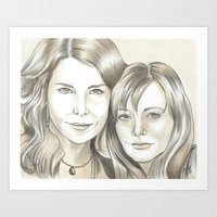 gilmore girls Art Prints featuring Gilmore Girls by ShayMacMorran