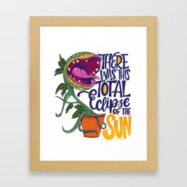 Total Eclipse of the Sun Framed Art Print