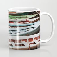 boats Mugs featuring Boats by BTP Designs