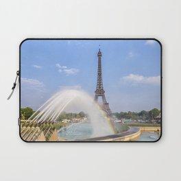 PARIS Eiffel Tower with rainbow Laptop Sleeve