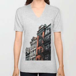 New York City Buildings Unisex V-Neck