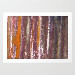 Abstract striped painted Art Print