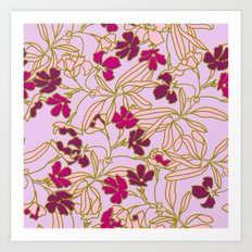 Jungle Dusk in Orchid Art Print