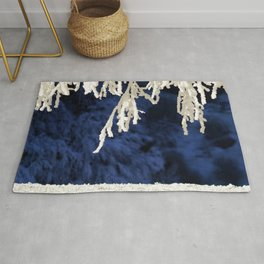 Snow in the Morning Rug