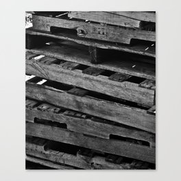 Abstract Wooden Pallets Canvas Print
