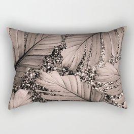 Banana Leaves Glitter Glam #3 #shiny #tropical #decor #art #society6 Rectangular Pillow