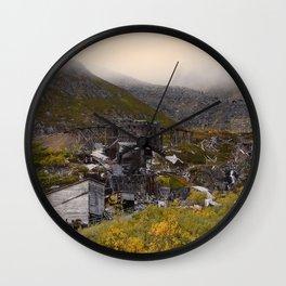 Independence Mine - Hatcher Pass, Alaska Wall Clock