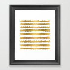 Earning Her Stripes Framed Art Print