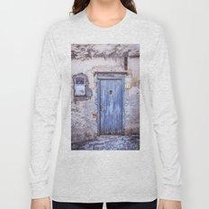 Old Blue Italian Door Long Sleeve T-shirt