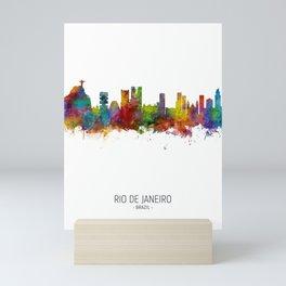 Rio de Janeiro Skyline Brazil Mini Art Print