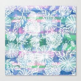 Garden in white Canvas Print