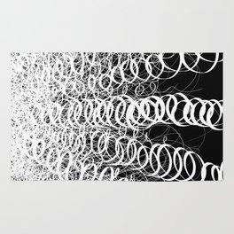 Black Spiral Swirls Reverse Rug