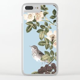 Birds and the Bees Blue Clear iPhone Case
