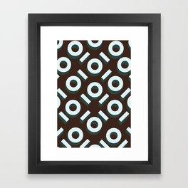 Brown Keyhole Pattern Framed Art Print