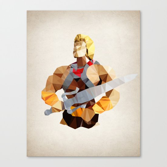 Polygon Heroes - He-Man Canvas Print
