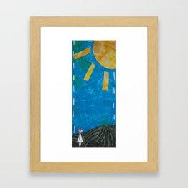 Walking through morning Framed Art Print