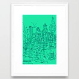 London! Mint Framed Art Print