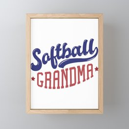 Softball Grandma Framed Mini Art Print