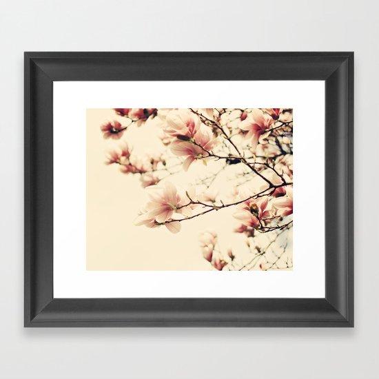 Magnolia skies Framed Art Print