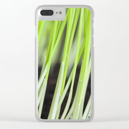 green sprouts of cereals Clear iPhone Case