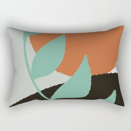 Botanical Sunset Abstract, At the Shore Palette Rectangular Pillow