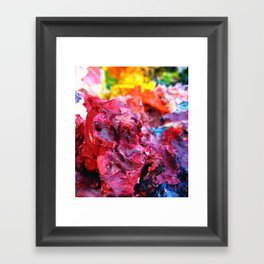 Pink Paint Glob Framed Art Print