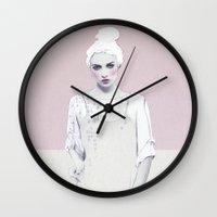 luna Wall Clocks featuring Luna by Jenny Liz Rome