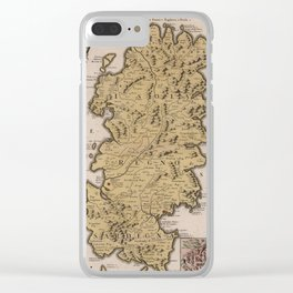 Vintage Map of Sardinia Italy (1734) Clear iPhone Case