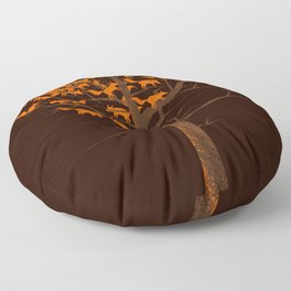 Blazing Fox Tree II Floor Pillow
