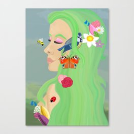 And Spring was her name  Canvas Print