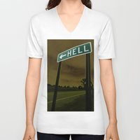 hell V-neck T-shirts featuring Hell by Litew8
