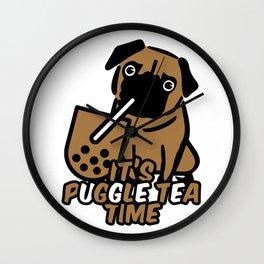It's Puggle Tea Time Wall Clock