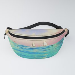 Sailing on the Dreamy Caribbean Sea by Reay of Light Photography Fanny Pack