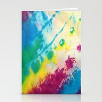tie dye Stationery Cards featuring Tie Dye by Kait & Court