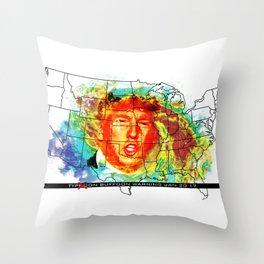 Trump Buffoon Typhoon Warning Throw Pillow