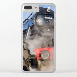 48624 Steam locomotive Clear iPhone Case